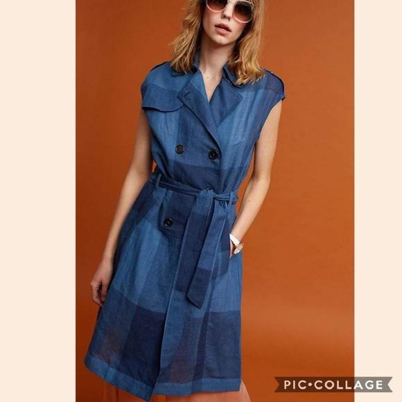 fec62b5c557c Anthropologie Dresses | Eva Franco Checkered Trench Dress | Poshmark